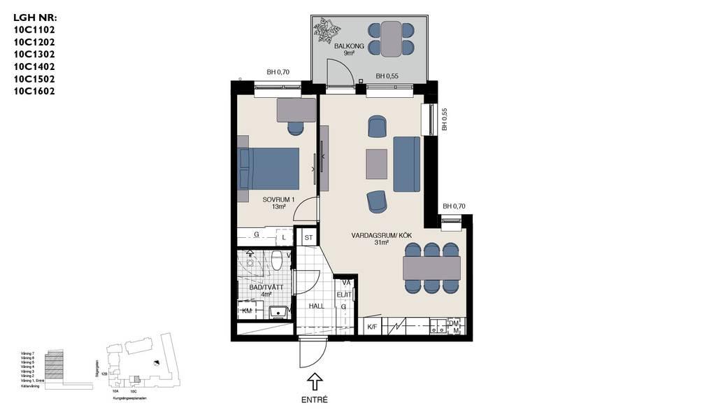 Bild: 2 rum bostadsrätt på Kungsängsesplanaden 10C, Uppsala kommun Kungsängen