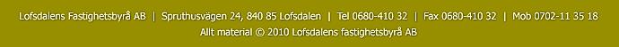 Lofsdalens Fastighetsbyrå AB