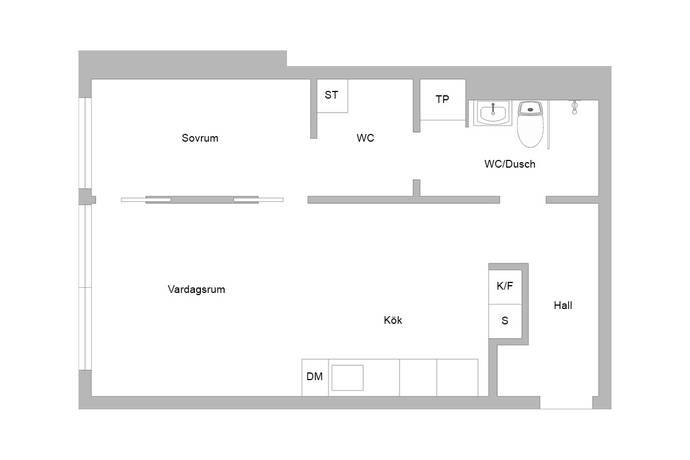 Bild: 2 rum bostadsrätt på Fabrikörvägen 4-8, 7tr, Nacka kommun