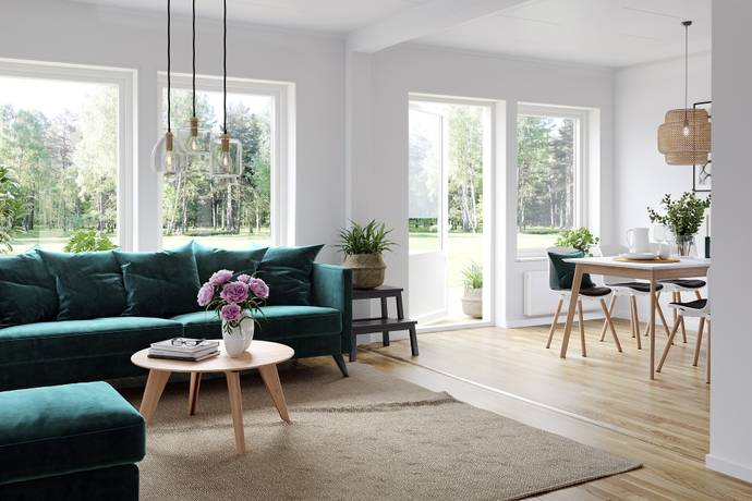 Bild: 5 rum bostadsrätt på Brf Blomstergången, Växjö kommun