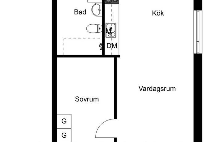 Bild: 2 rum bostadsrätt på Sjödalsvägen 15, Huddinge kommun Huddinge