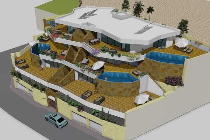 Bild: 4 rum bostadsrätt på 4 st unika lägenheter ovanför Poniente stranden i Benidorm, Spanien COSTA BLANCA - BENIDORM