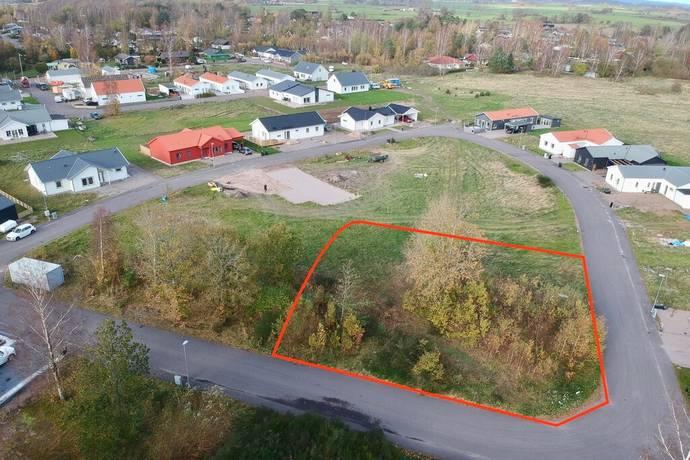 Bild: tomt på Trätovägen 33, Halmstads kommun Haverdal