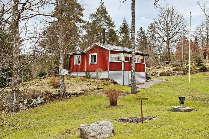 Bild: 2,5 rum fritidshus på Trehörningsvägen 34, Trollhättans kommun Sjölanda