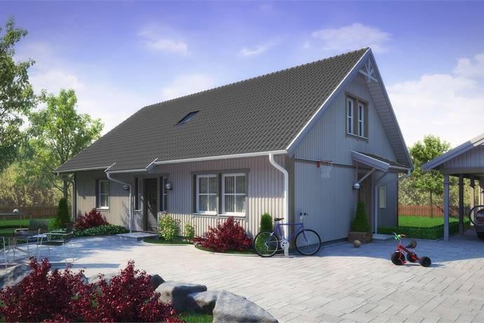 Bild: 6 rum villa på Prästerydsvägen tomt 1, Alingsås kommun Torvmossen