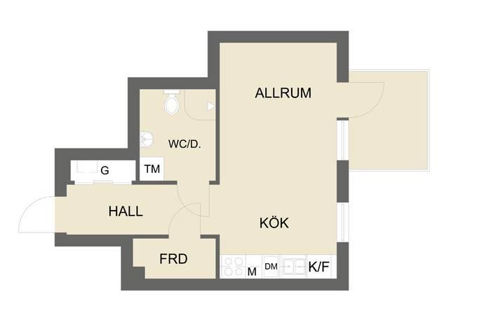Bild: 1 rum bostadsrätt på Lagmansbacken 5, 7tr, Botkyrka kommun Norsborg