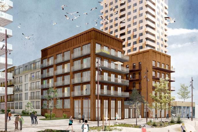 Bild från Norrtälje Centralt - Nyproducerade bostadsrätter i hamnen med 3 m i takhöjd, golvvärme, kvalitet och garage.