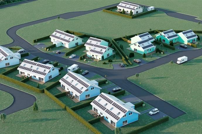 Bild från 18 st bostadsrättslägenheter i form av 9 parhus - BRF Runnabäcken