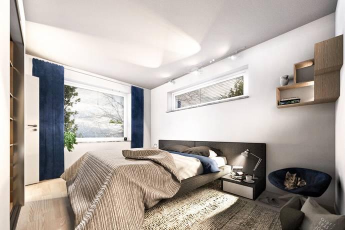 Bild från Karlslund - Vill du bo nytt i centralt lugnt läge? Då finns ett projekt för dig! Hiss. Härliga planlösningar.