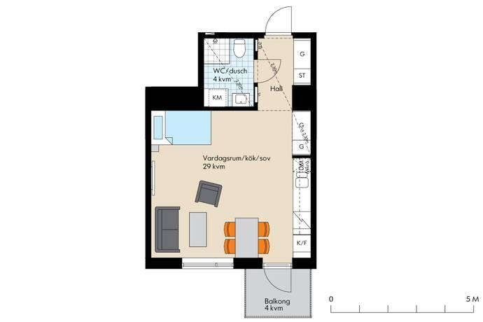Bild: 1 rum bostadsrätt på Edla Sofias Gata 14, Värmdö kommun Gustavsberg
