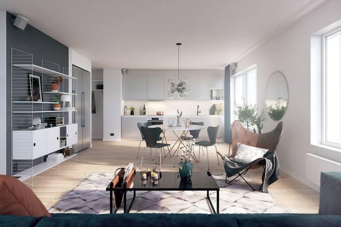 Bild: 2 rum bostadsrätt på Slottsgatan 44C, Jönköpings kommun Öster City