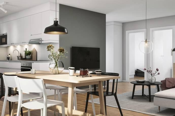 Bild: 3 rum bostadsrätt på Kongahällagatan, Kungälvs kommun Nya Resecentrum