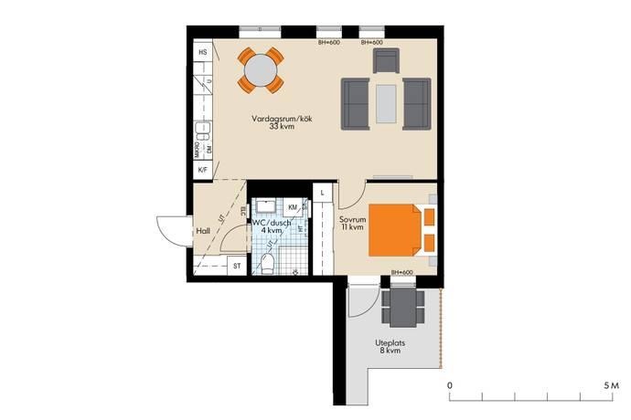 Bild: 2 rum bostadsrätt på Brogatan 11, Sundbybergs kommun Västra Brotorp
