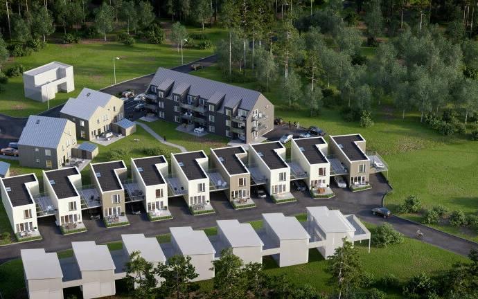 Bild: 5 rum bostadsrätt på Bullerbygatan, K3, Borås kommun Lyckebo sjöstad
