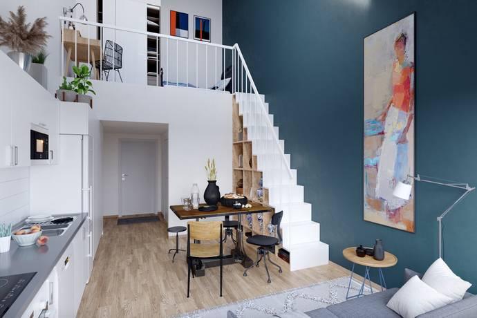 Bild: 1 rum bostadsrätt på Tisdagsvägen, Stockholms kommun Hökarängen