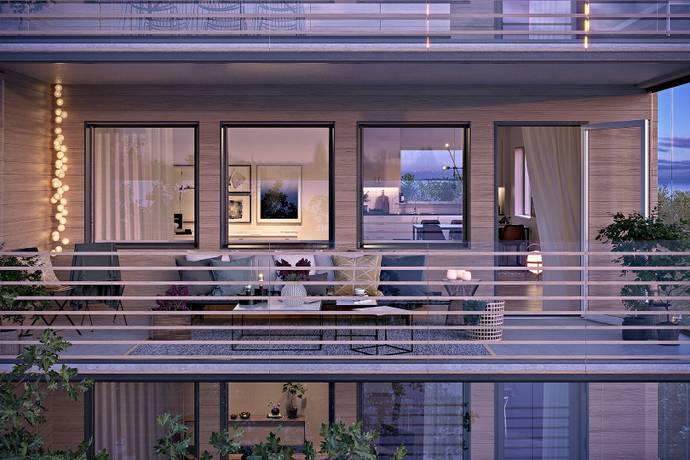 Bild: 2 rum bostadsrätt på Dragongatan, Umeå kommun