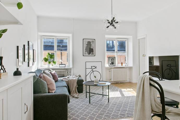 Bild: 3 rum bostadsrätt på Heleneborgsgatan 26, Stockholms kommun Hornstull