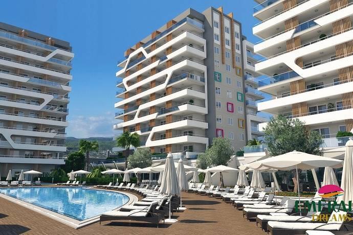 Bild: 2 rum bostadsrätt på Avsallar Emerald Dreams id 2251 lägenhet 1+1, Turkiet Avsallar
