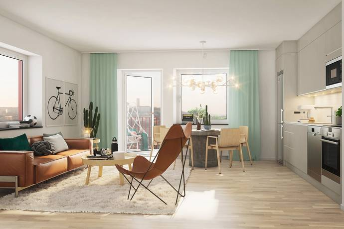 Bild: 2 rum bostadsrätt på Gräddgatan 7, Göteborgs kommun Kallebäck
