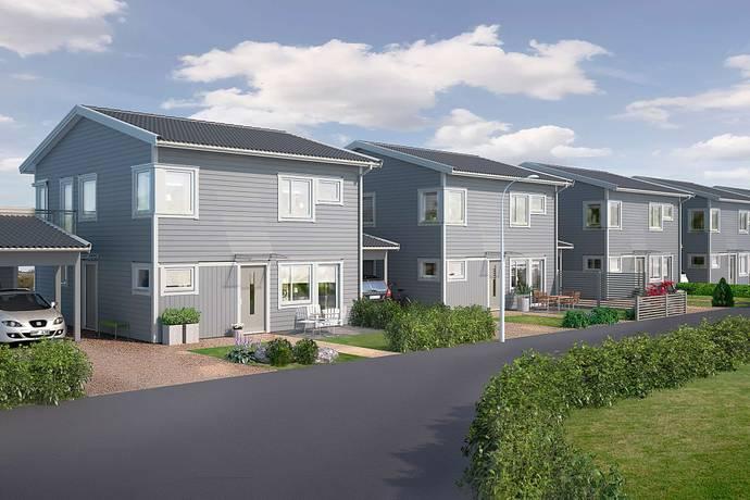 Bild: 5 rum radhus på Basfiolvägen 8, Falkenbergs kommun Dals Ängar