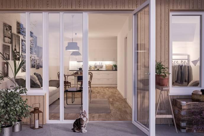 Bild: 2 rum bostadsrätt på Lövkojsgränd 7, Stockholms kommun Hässelby Villastad