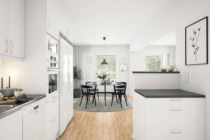 Bild: 4 rum radhus på Pingstgatan, Skellefteå kommun Morö Backe