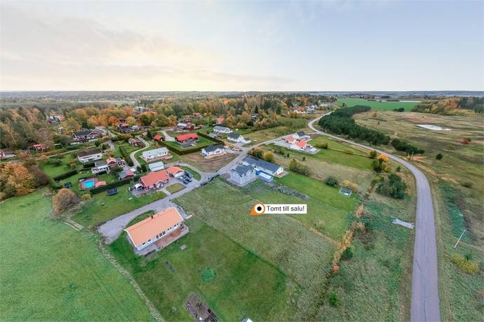 Bild: tomt på Knalltäppsvägen 9, Eskilstuna kommun Ostra Knall