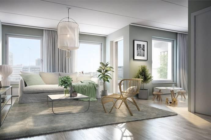 Bild: 3 rum bostadsrätt på Lägatan, Malmö kommun Dockan