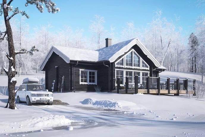 Bild: 5 rum villa på M56 - Merkurius-Forsgrens Timmerhus, Älvdalens kommun Idre Himmelfjäll