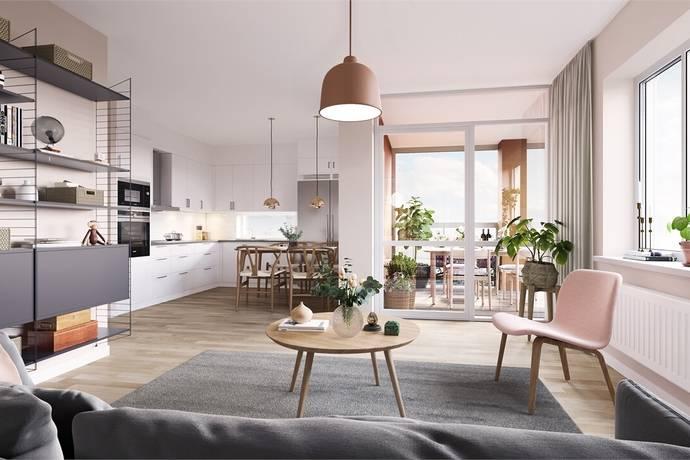 Bild: 2 rum bostadsrätt på Tellusgatan 41, Göteborgs kommun Bergsjön