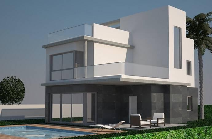 Bild: 6 rum villa på Moderna villor i Torrevieja, Spanien Punta Prima -  Costa Blanca