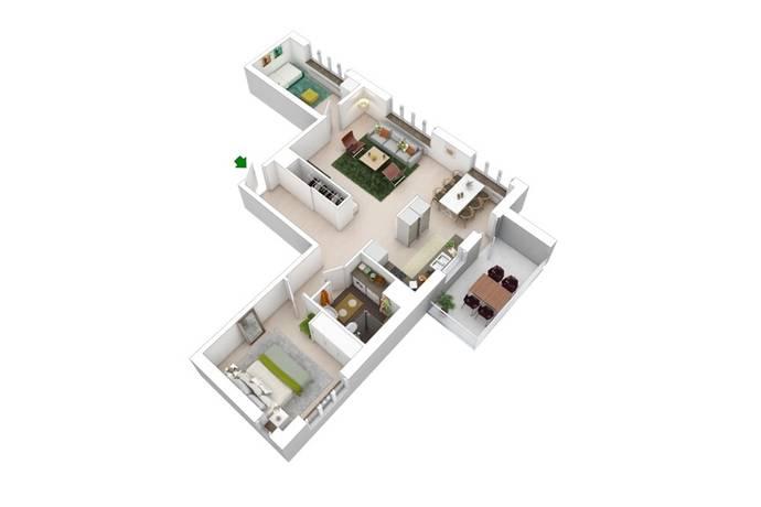 Bild: 3 rum bostadsrätt på Kvarnvägen, Järfälla kommun Jakobsberg