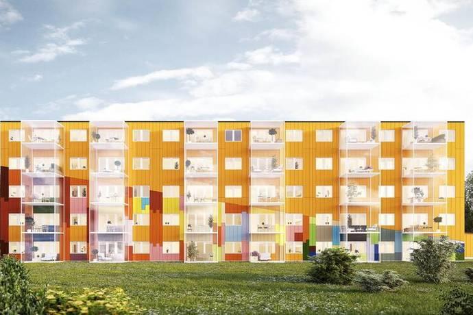 Bild: bostadsrätt på Centrumgatan 4, Sundsvalls kommun Kvisslebyhuset