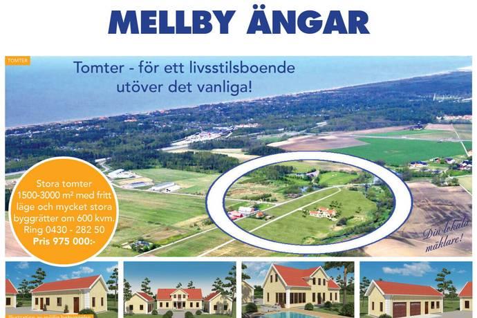 Bild: tomt på Mellby Ängar, Laholms kommun Mellbystrand