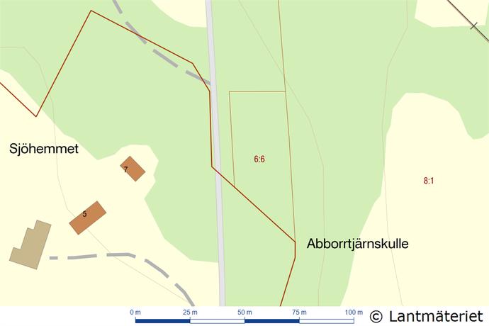 Bild: tomt på Malidsvägen, Marks kommun Sätila