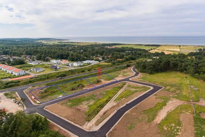 Bild: tomt på Sportvägen, Falkenbergs kommun Skrea