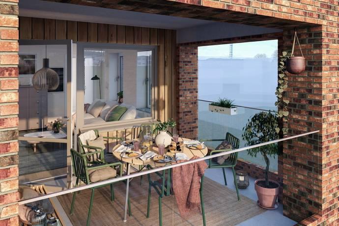 Bild: 3 rum bostadsrätt på Brf Klövern, Täby kommun Täby Park