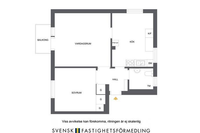 Bild: 2 rum bostadsrätt på Bäckvägen 67, Stockholms kommun Hägersten
