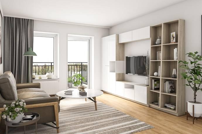 Bild: 2 rum bostadsrätt på Småbrukets Backe 14, Huddinge kommun Flemingsberg