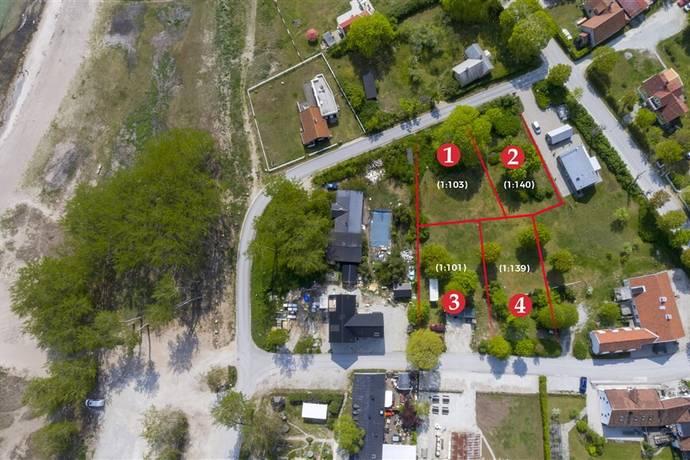 Bild: tomt på Claudelins väg 4 A, Gotlands kommun Ljugarn - Östra Gotland