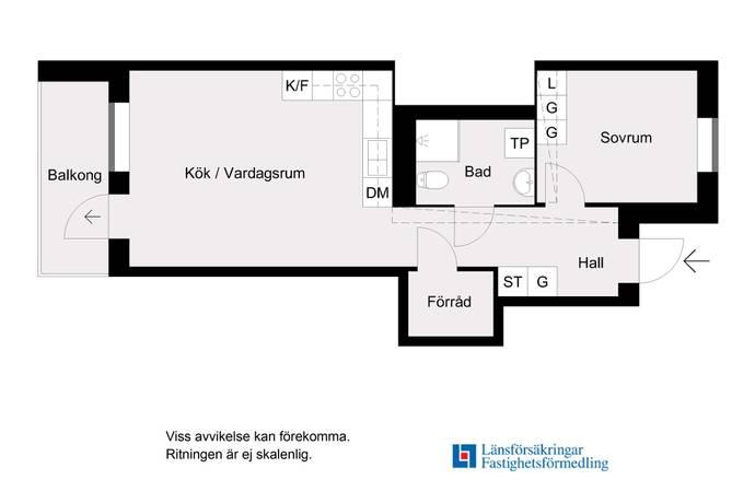 Bild: 2 rum bostadsrätt på Parkvägen 6, Järfälla kommun Barkarbystaden