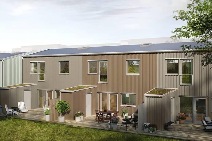 Bild från 9 funktionella och smarta radhus om 159 + 16 kvm fördelat på tre plan vid Sandsjöbacka naturområde