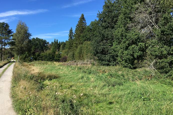 Bild: tomt på Solgårdsvägen 13, Norrtälje kommun Skebobruk