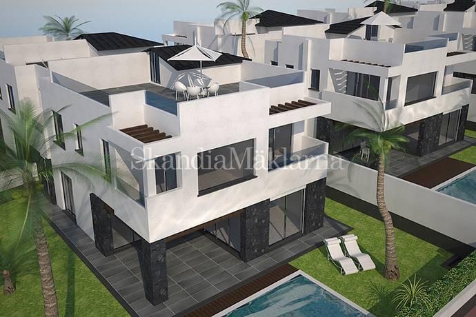 Bild: 5 rum bostadsrätt på Nyproduktion av Villor centralt i Los Cristianos, Spanien Teneriffa - Los Cristianos