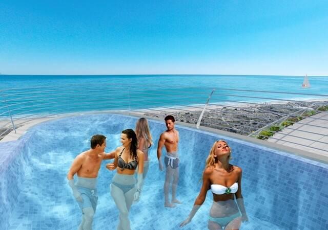 Bild: 4 rum bostadsrätt på Första linjen med havsutsikt, Spanien Arenales Del Sol | Alicante