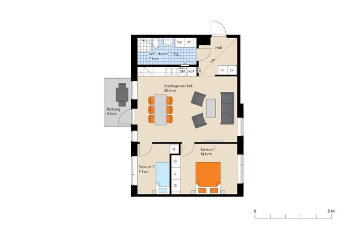 Bild: 3 rum bostadsrätt på Viggengatan, Järfälla kommun Barkarbystaden