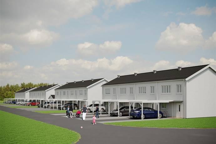 Bild: 4 rum radhus på Lövsångarvägen 1-7 B & C, Krokoms kommun Sånghusvallen