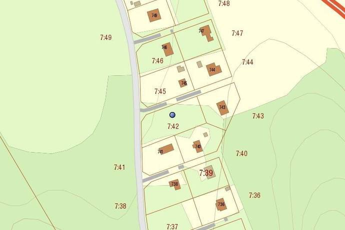 Bild: tomt på Skogsvägen, Ydre kommun Rönnäs