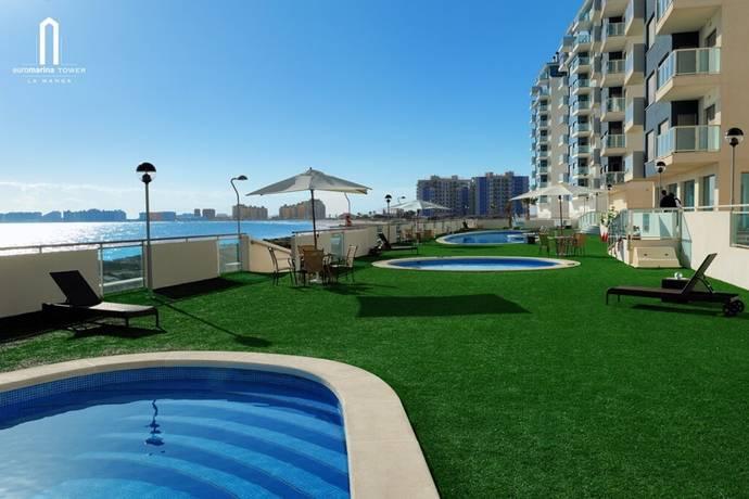 Bild: 3 rum bostadsrätt på Bo direkt på stranden i unika La Manga, Spanien Murcia/Mar Menor - La Manga