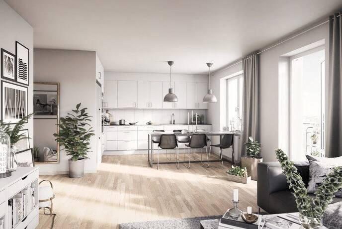 Bild: 4 rum bostadsrätt på Kungsängsesplanaden (1-3401), Uppsala kommun